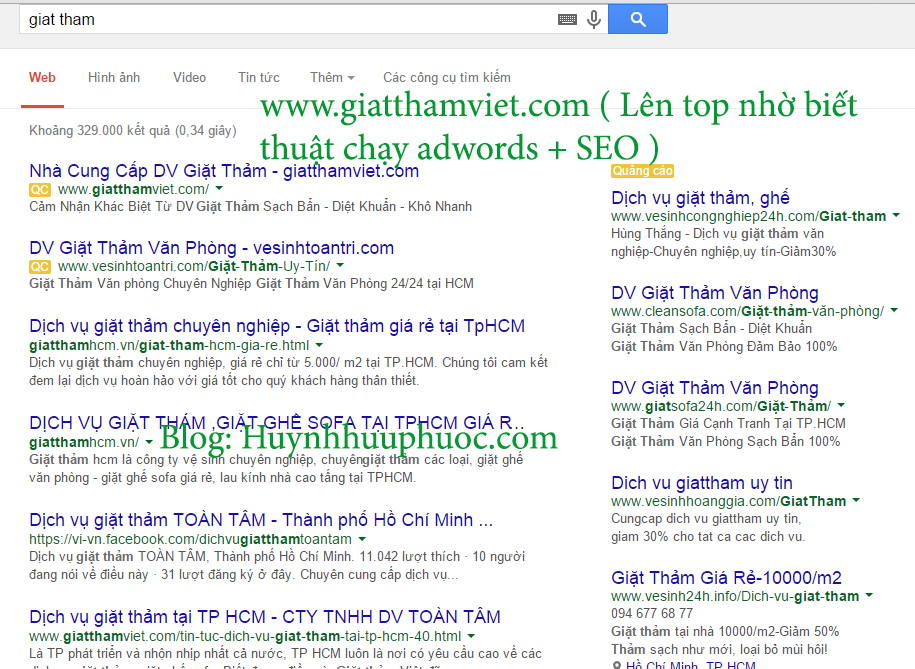 thuat chay adwords voi seo