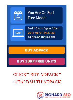 "Cách tái đầu tư MyPayingAds.Com "" Mua Active AdPacks """